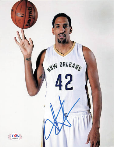 Alexis Ajinca signed 8x10 photo PSA/DNA New Orleans Pelicans Autographed