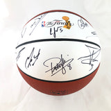 2013-14 Spurs Team Signed Basketball PSA/DNA Autographed Ball LOA