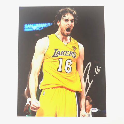 Pau Gasol signed 11x14 photo PSA/DNA Los Angeles Lakers Autographed