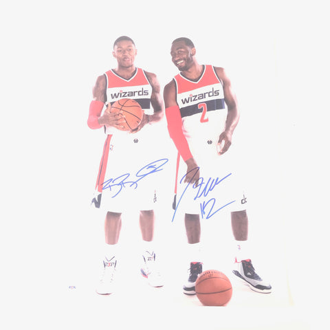 John Wall Bradley Beal signed 16x20 photo PSA/DNA Washington Wizards