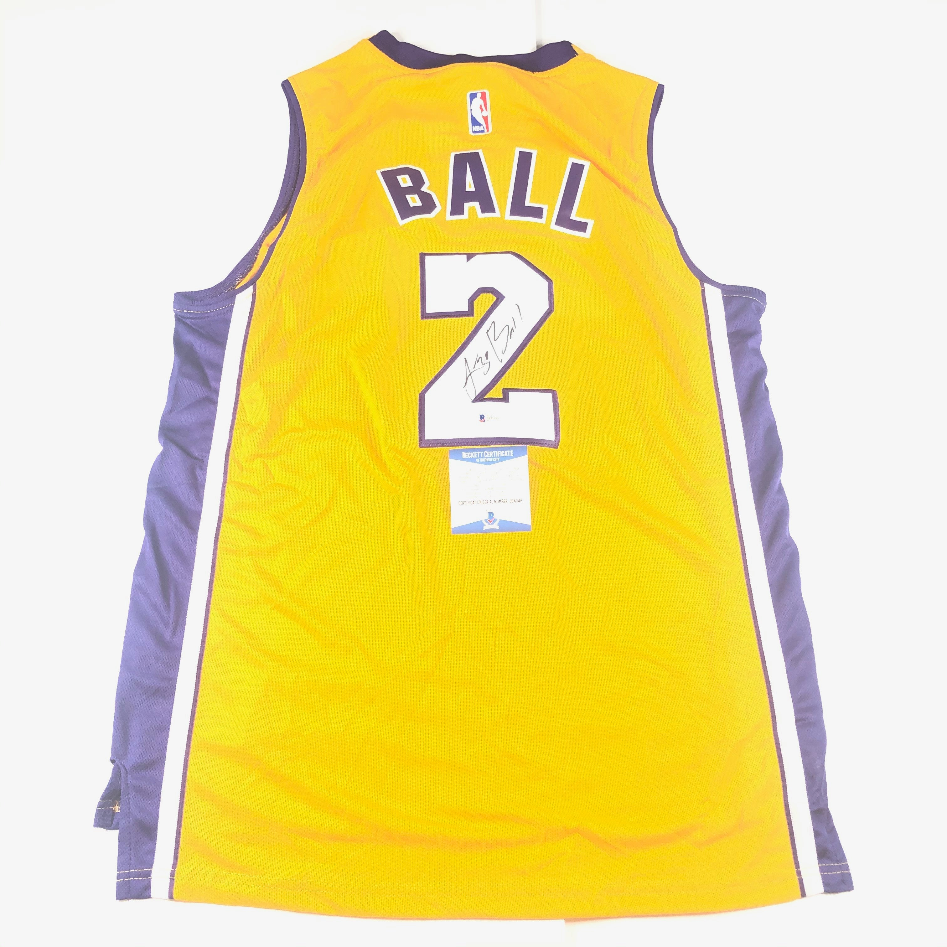Lonzo Ball signed jersey BAS Beckett Los Angeles Lakers Autographed