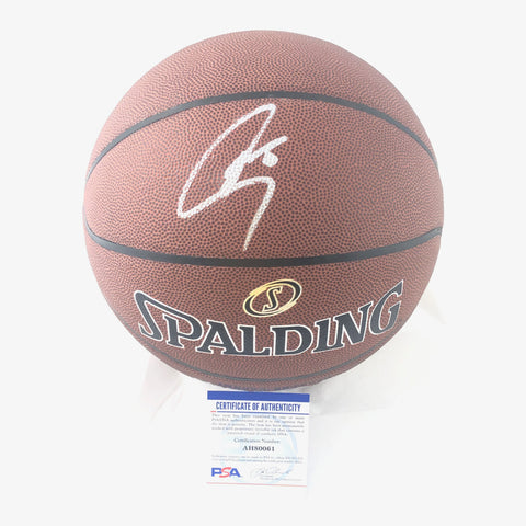 Stephen Curry signed Basketball PSA/DNA Warriors autographed