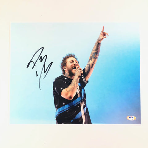 Post Malone signed 11x14 Photo PSA/DNA Autographed Rapper