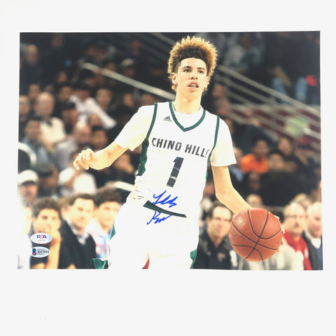 LaMelo Ball signed 11x14 photo PSA/DNA BAS Beckett Charlotte Hornets Autographed