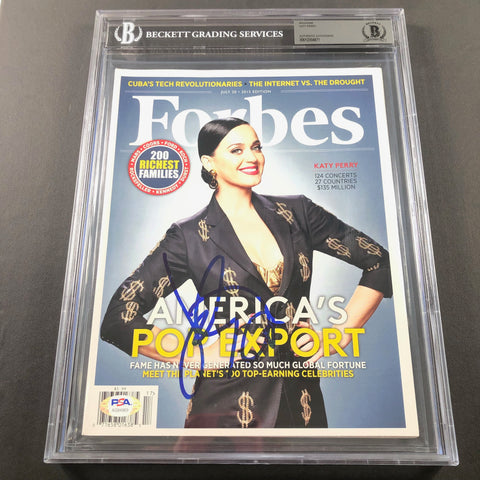 Katy Perry Signed Forbes Magazine PSA/DNA Beckett Encapsulated