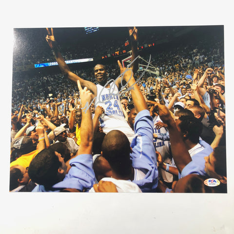 Marvin Williams Signed 11x14 photo PSA/DNA North Carolina Autographed