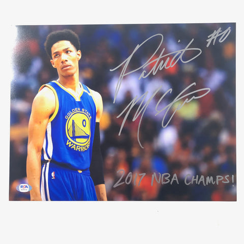 Patrick McCaw signed 11x14 photo PSA/DNA Warriors Autographed Raptors