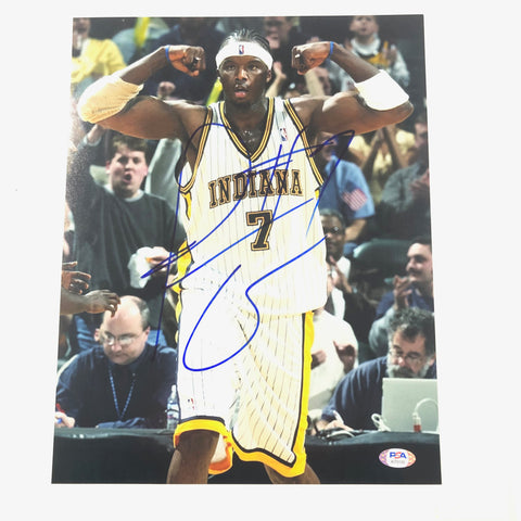 Jermaine O'Neal Signed 8x10 Photo PSA/DNA Indiana Pacers Autographed