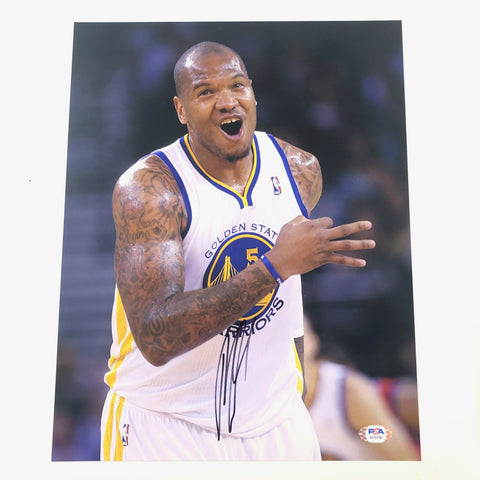 Marreese Speights signed 11x14 photo PSA/DNA Golden State Warriors Autographed
