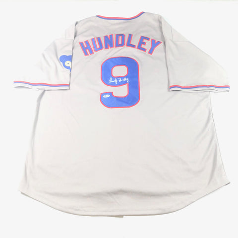 Randy Hundley signed jersey BAS Beckett Chicago Cubs Autographed
