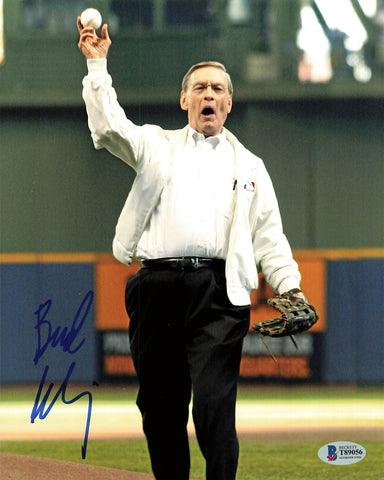 Allan Bud Selig signed 8x10 Photo BAS Beckett Commissioner Autographed