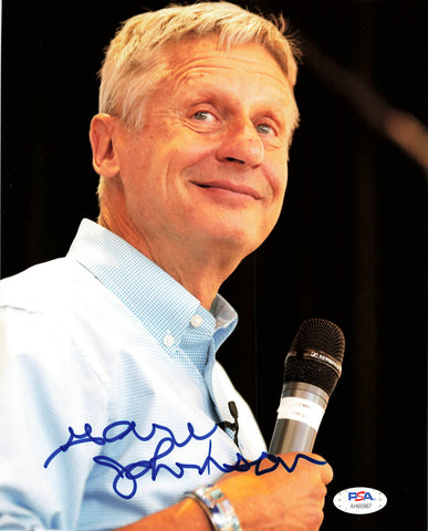 Gary Johnson signed 8x10 Photo PSA/DNA Autographed Politician