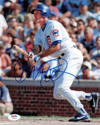 Ryne Sandberg signed 8x10 photo PSA/DNA Chicago Cubs HOF