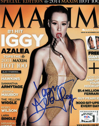 Iggy Azalea signed 8x10 photo PSA/DNA Autographed