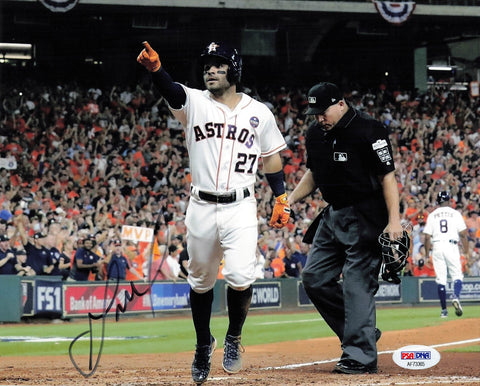 Jose Altuve signed 8x10 photo PSA/DNA Houston Astros Autographed
