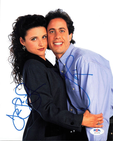 Jerry Seinfeld Julia Louis-Dreyfus Signed 8x10 Photo PSA/DNA