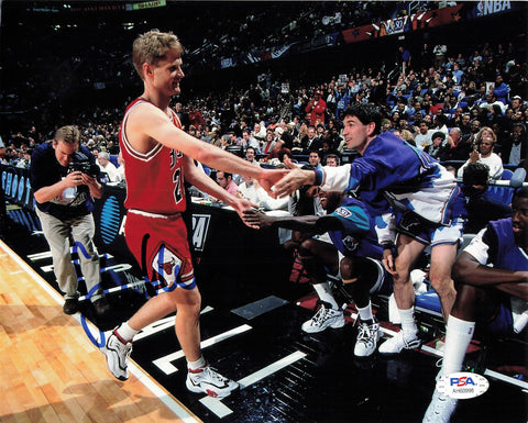 Steve Kerr signed 8x10 photo PSA/DNA Chicago Bulls Autographed