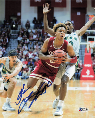Romeo Langford signed 8x10 photo BAS Beckett Indiana Hoosiers Autographed