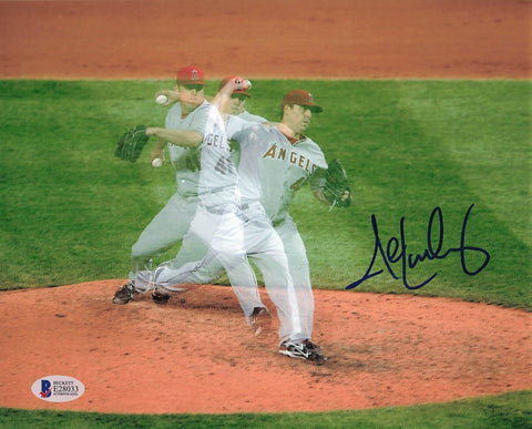 John Lackey signed 8x10 photo BAS Beckett Anaheim Angels Autographed