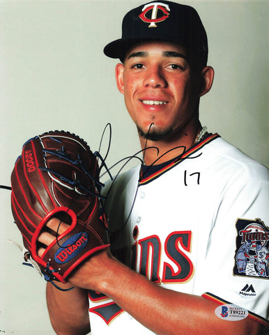 Jose Berrios signed 8x10 photo BAS Beckett Minnesota Twins Autographed