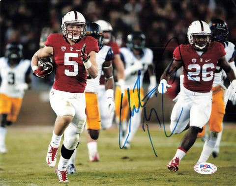 Christian McCaffrey signed 8x10 photo PSA/DNA Stanford Cardinals Autographed