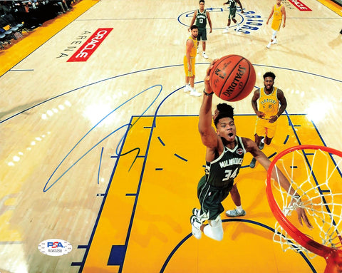 Giannis Antetokounmpo signed 8x10 photo PSA/DNA Milwaukee Bucks Autographed