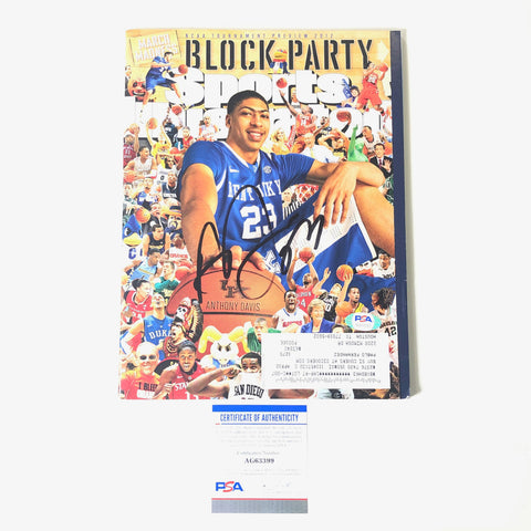 Anthony Davis signed SI Magazine Cover PSA/DNA Kentucky Sports Illustrated