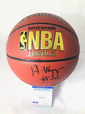 Andrew Wiggins Signed Basketball PSA/DNA Golden State Warriors Autographed