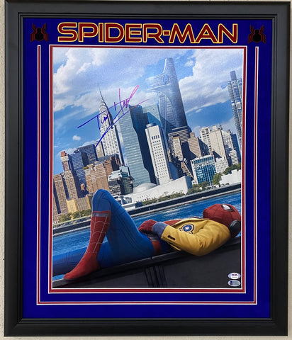 Tom Holland Signed Framed 16x20 Photo BAS PSA/DNA LOA Auto Grade 10