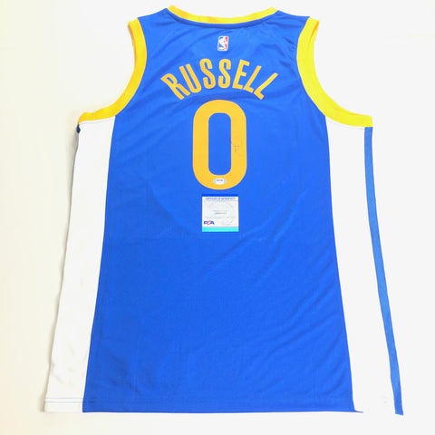 D'Angelo Russell signed jersey PSA/DNA Golden State Warriors Autographed