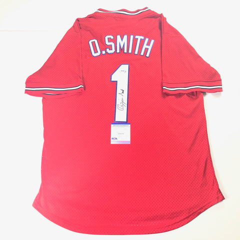 Ozzie Smith signed jersey PSA/DNA St. Louis Cardinals Autographed