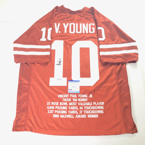 Vince Young signed Jersey PSA/DNA Texas LonghornsAutographed