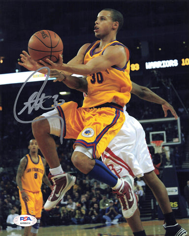Stephen Curry signed 8x10 photo PSA/DNA Golden State Warriors Autographed