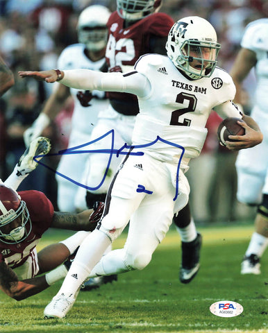 Johnny Manziel signed 8x10 photo PSA/DNA Texas A&M Aggies Autographed