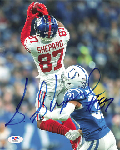 Sterling Shepard signed 8x10 photo PSA/DNA New York Giants Autographed