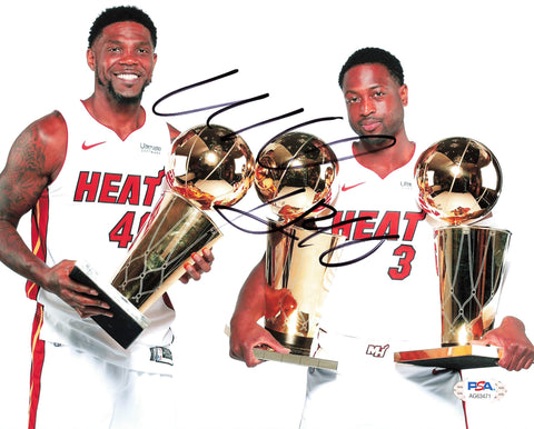 Udonis Haslem signed 8x10 photo PSA/DNA Miami Heat Autographed