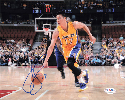 Jeremy Lin signed 8x10 photo PSA/DNA Los Angeles Lakers Autographed Kobe