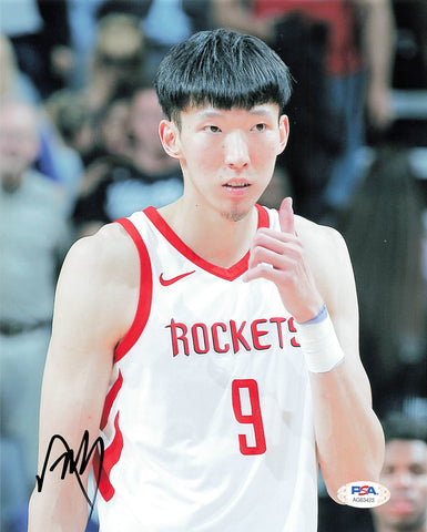 Zhou Qi signed 8x10 photo PSA/DNA Houston Rockets Autographed