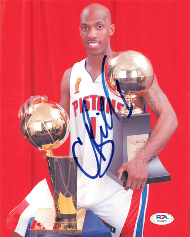 Chauncey Billups signed 8x10 photo PSA/DNA Detroit Pistons Autographed