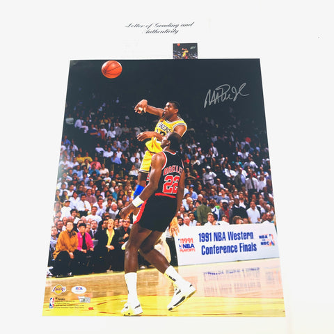Magic Johnson signed 16x20 Photo PSA/DNA Auto Grade 10 LOA Fanatics