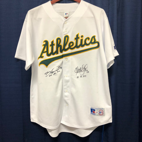 Huston Street Barry Zito Signed jersey PSA/DNA Oakland Athletics Autographed