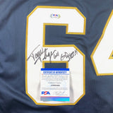 Tom Thayer Signed Jersey PSA/DNA Notre Dame Autographed