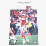 Joe Montana Signed 11x14 photo PSA/DNA Auto Grade 10 LOA 49ers Autographed