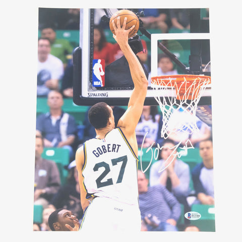 Rudy Gobert signed 11x14 photo BAS Beckett Utah Jazz Autographed