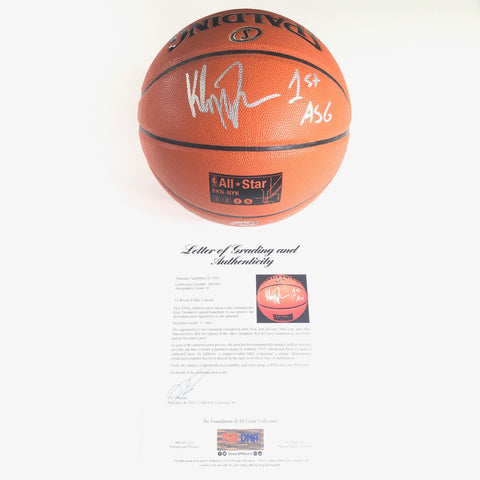 Klay Thompson Signed Basketball PSA/DNA LOA Auto Grade 10 Warriors