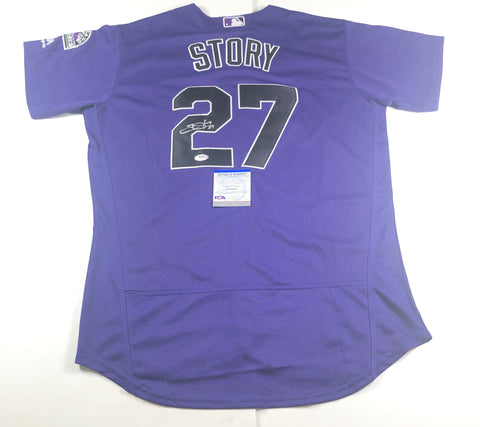 Trevor Story Signed Jersey PSA/DNA Colorado Rockies Autographed