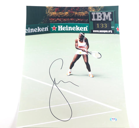 Serena Williams signed 16x20 Photo PSA/DNA Autographed Tennis