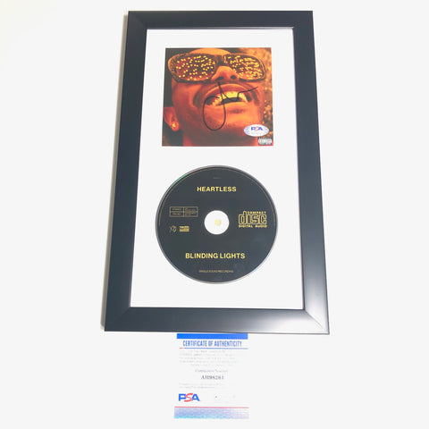 The Weeknd signed Album CD Cover Framed PSA/DNA Autographed