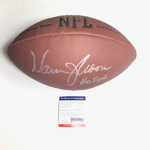 Warren Moon Signed Football PSA/DNA Houston Oilers Autographed