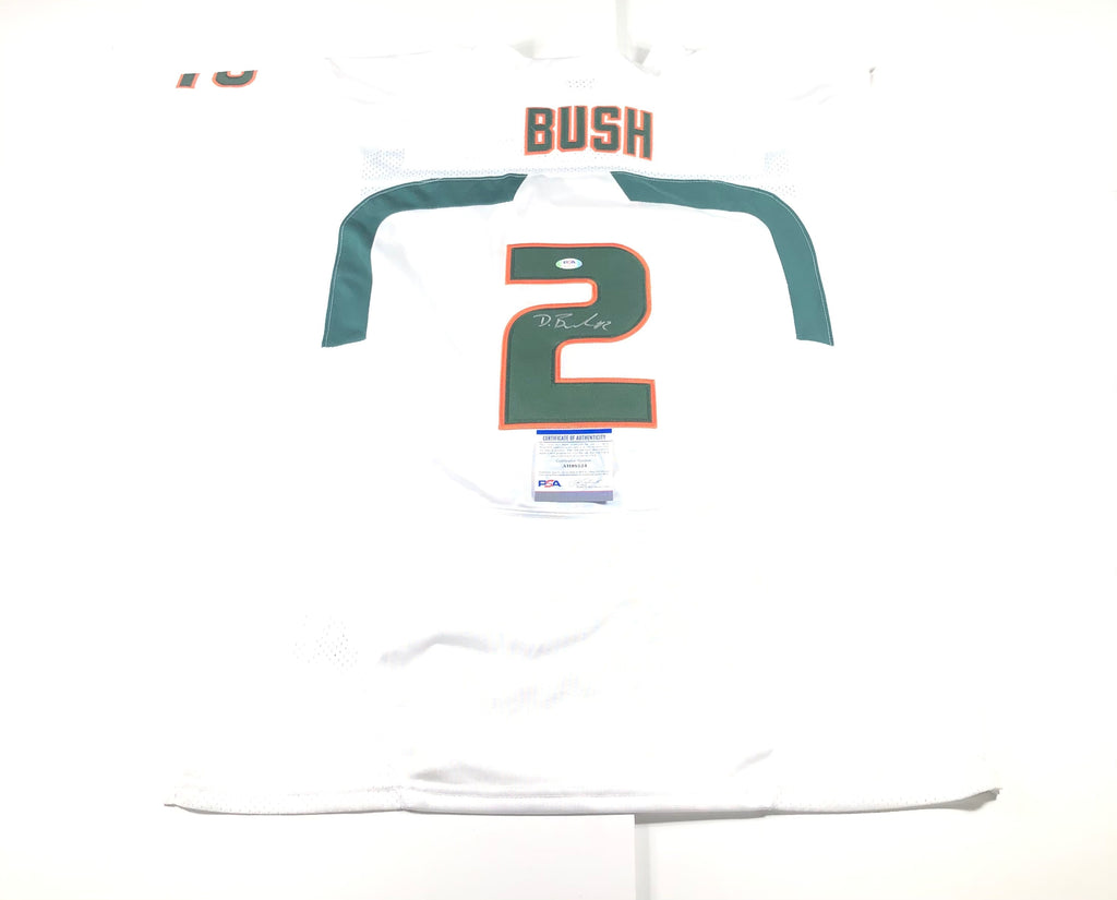 Deon Bush Signed Jersey PSA/DNA Miami Chicago Bears Autographed